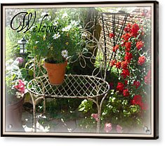 Acrylic Print featuring the photograph Welcome Flowers by Heidi Manly