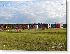 Acrylic Print featuring the photograph Welcome Home by Gina Savage