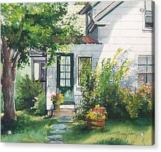 Acrylic Print featuring the painting Welcome by Joy Nichols