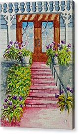Acrylic Print featuring the painting Welcome by Katherine Young-Beck