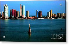 Welcome To Cartagena Colombia Acrylic Print by Ann Johndro-Collins