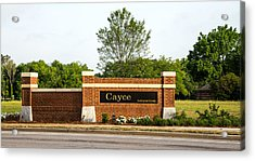 Welcome To Cayce Acrylic Print