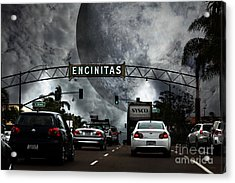 Acrylic Print featuring the photograph Welcome To Encinitas California 5d24221 by Wingsdomain Art and Photography