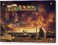 Welcome To Fun Town Acrylic Print by Kim Zier