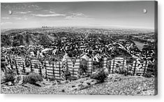 Welcome To Hollywood - Bw Acrylic Print