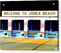 Welcome To Jones Beach Acrylic Print by Ed Weidman
