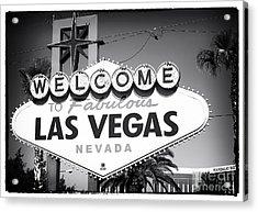 Welcome To Las Vegas Noir Acrylic Print by John Rizzuto