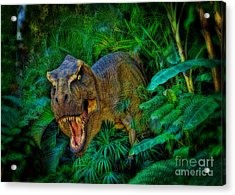 Welcome To My Park Tyrannosaurus Rex Acrylic Print