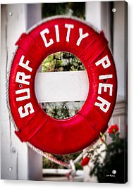 Welcome To Surf City Acrylic Print by John Pagliuca