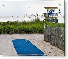 Welcome To The Beach Acrylic Print by Zina Stromberg