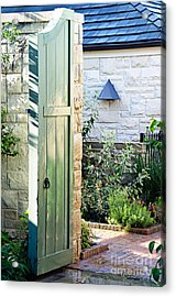 Welcome To The Garden Acrylic Print by Andee Design