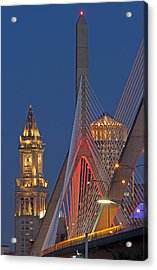 Welcome To The Great City Of Boston Acrylic Print