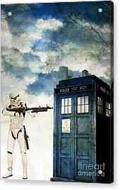 Welcome To The Time Wars Acrylic Print by Angelica Smith Bill