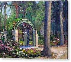 Welcome To White Park Acrylic Print