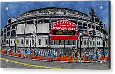 Welcome To Wrigley Field Acrylic Print by Phil Strang