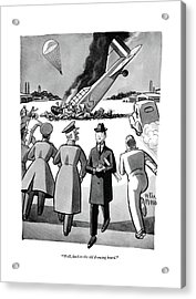 Well, Back To The Old Drawing Board Acrylic Print by Peter Arno