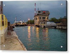 Acrylic Print featuring the photograph Welland Canal Locks by Barbara McDevitt
