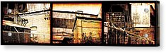 Welland Forge Triptych 1 Acrylic Print by The Art of Marsha Charlebois