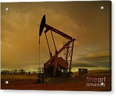 Wellhead At Dusk Acrylic Print