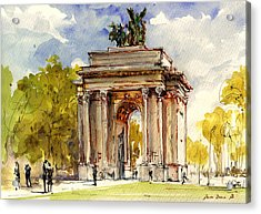 Wellington Arch Acrylic Print by Juan  Bosco