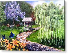 Acrylic Print featuring the painting Wellness by Kevin F Heuman
