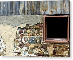 Well's Barn Texture Acrylic Print by Debbie Finley