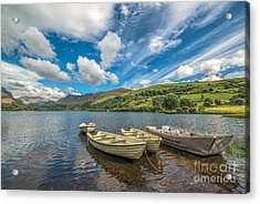 Welsh Boats Acrylic Print by Adrian Evans