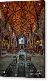 Welsh Cathedral  Acrylic Print by Adrian Evans