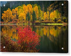 Wenatchee River Reflections Acrylic Print
