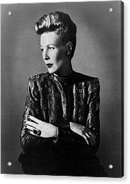 Wendy Barrie, Ca. Mid-1940s Acrylic Print by Everett