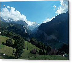 Wengen View Of The Alps Acrylic Print