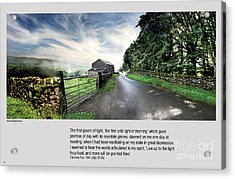 Wensleydale Road Acrylic Print by Mike Hoyle