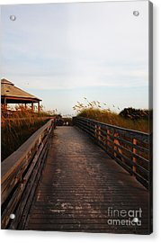 Went For A Stroll On The Boardwalk Acrylic Print by Meghan Pettis