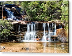 Acrylic Print featuring the photograph Wentworth Falls by Yew Kwang