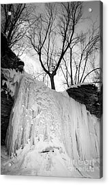 Acrylic Print featuring the photograph Wequiock Walls Of Ice by Mark David Zahn Photography