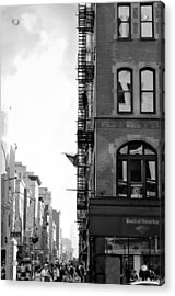 West 23rd Street Bw Acrylic Print by Laura Fasulo