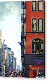 West 23rd Street Acrylic Print by Laura Fasulo