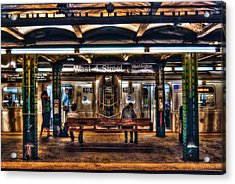 West 4th Street Subway Acrylic Print by Randy Aveille