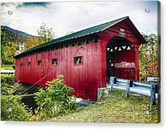 West Arlington Covered Bridge Acrylic Print by George Oze