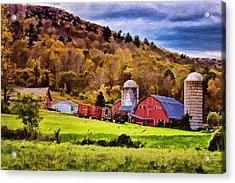 West Arlington Farm Acrylic Print by Priscilla Burgers