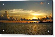 West Bay Sunset Acrylic Print