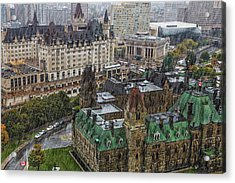 West Block Of The Parliament Hill In Acrylic Print