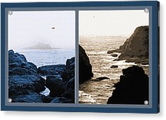 West Coast Scenes Diptych 2 Acrylic Print by Steve Ohlsen
