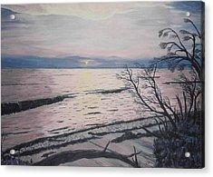 West Coast Sunset Acrylic Print by Hilda and Jose Garrancho