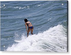 West Coast Surfer Girl Acrylic Print