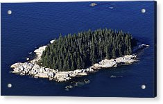 West Deer Isle, Penobscot Bay Acrylic Print by Dave Cleaveland