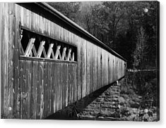 West Dummerston Covered Bridge Acrylic Print by Luke Moore