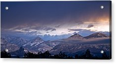 Acrylic Print featuring the photograph West Elk Mountains First Light by Eric Rundle