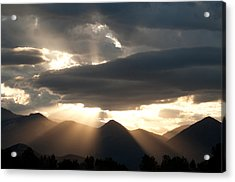 Acrylic Print featuring the photograph West Elk Sunbeams by Eric Rundle