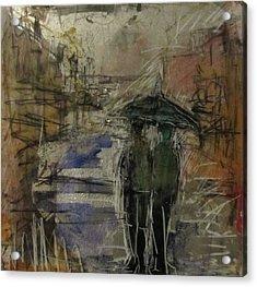 West End Rain Acrylic Print by Debbie Clarke